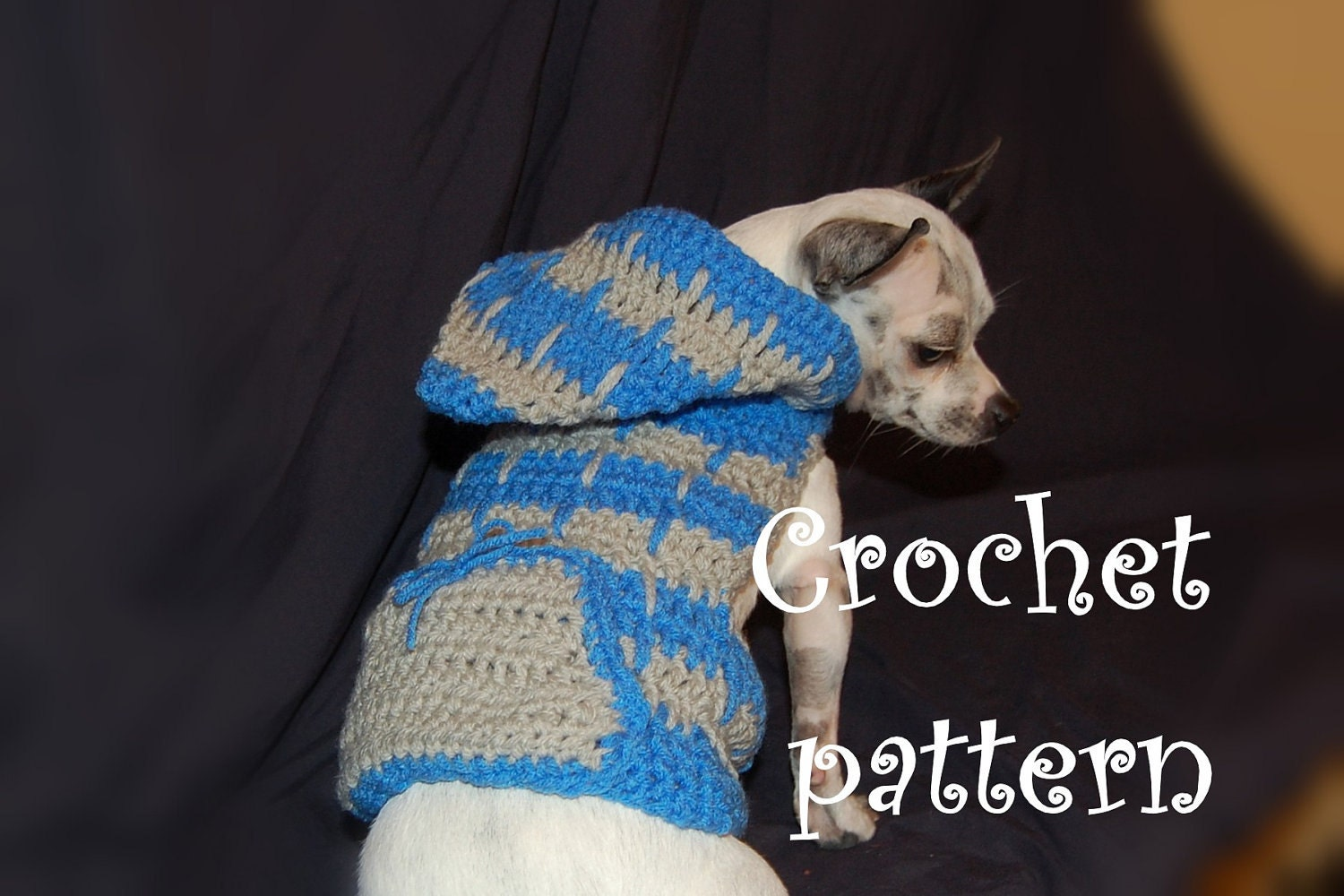 Crochet Pattern For Yorkie Sweater : HOODED CROCHET SWEATER ? Crochet For Beginners