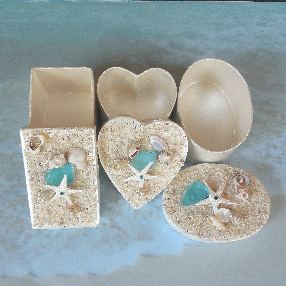Beach Wedding Favor Boxes Seashell Gift Box By CoastalGlamour