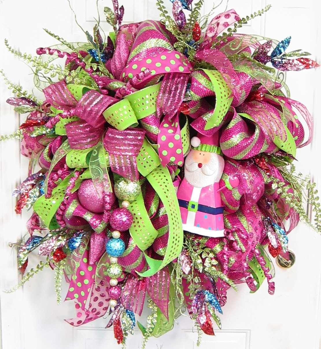 Amazing christmas holiday door wreath wreaths by for Amazing wreaths