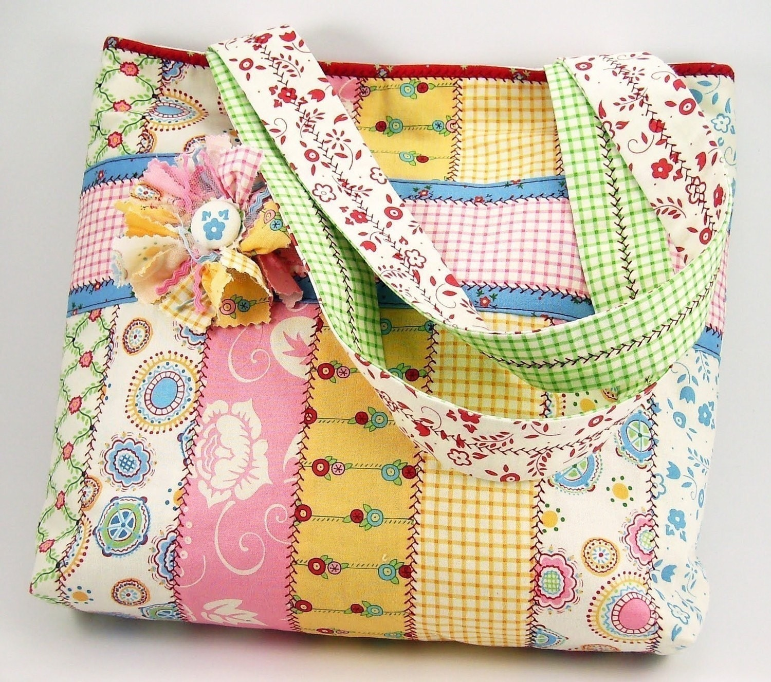 Jelly Roll Tote Bag Sewing Pattern with by SundayGirlDesigns