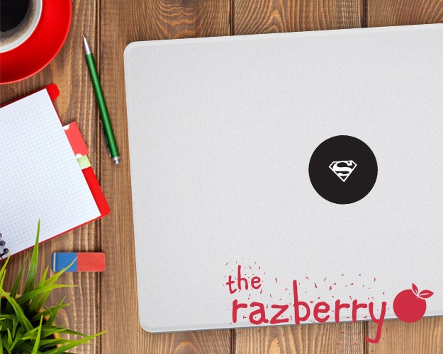 Superman MacBook Decal Sticker Superhero Superman S Logo Macbook Pro Sticker Macbook Stickers Laptop Stickers Marvel Decal DC Avengers Vinyl