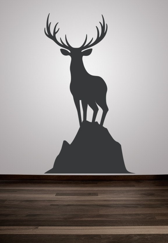 Wall decal animal deer buck nature wildlife by for Deer wall decals
