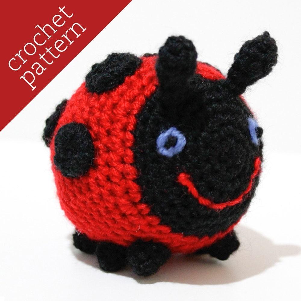 CROCHET PATTERN PDF Amigurumi Little Ladybug by BricabracaBaby
