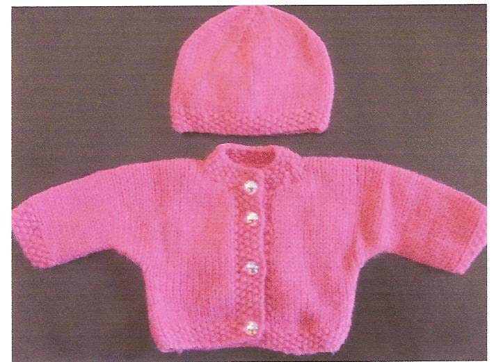 Knitting Pattern Baby Hat Premature : Premature Baby Sweater Jacket & Hat Knitting by scottishcraft