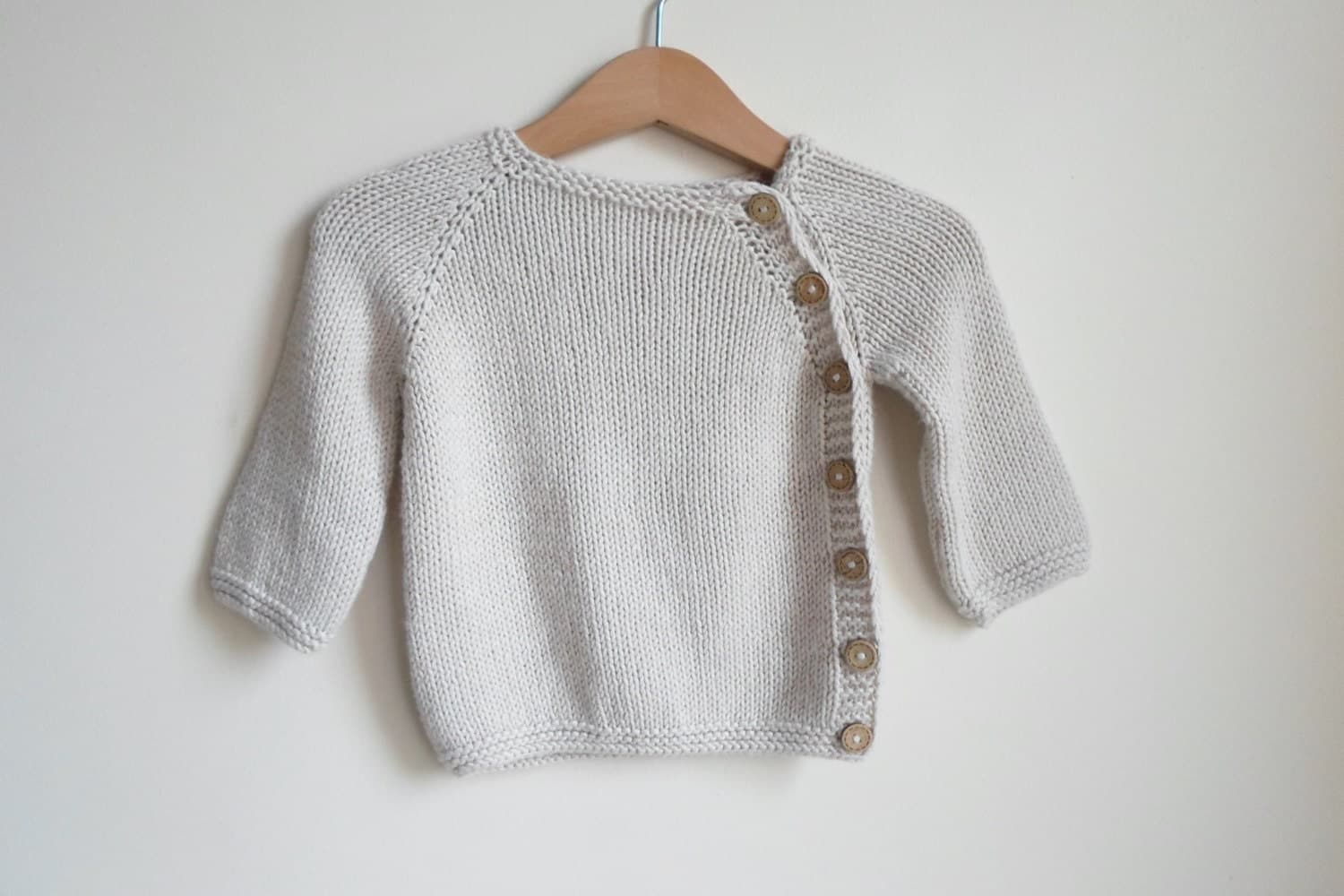 Baby sweater beige. Bamboo newborn sweater. knitted baby sweater, newborn gift, Puerperium Cardigan.natural antibacterial. eco friendly. - ATLASKNITSHOP