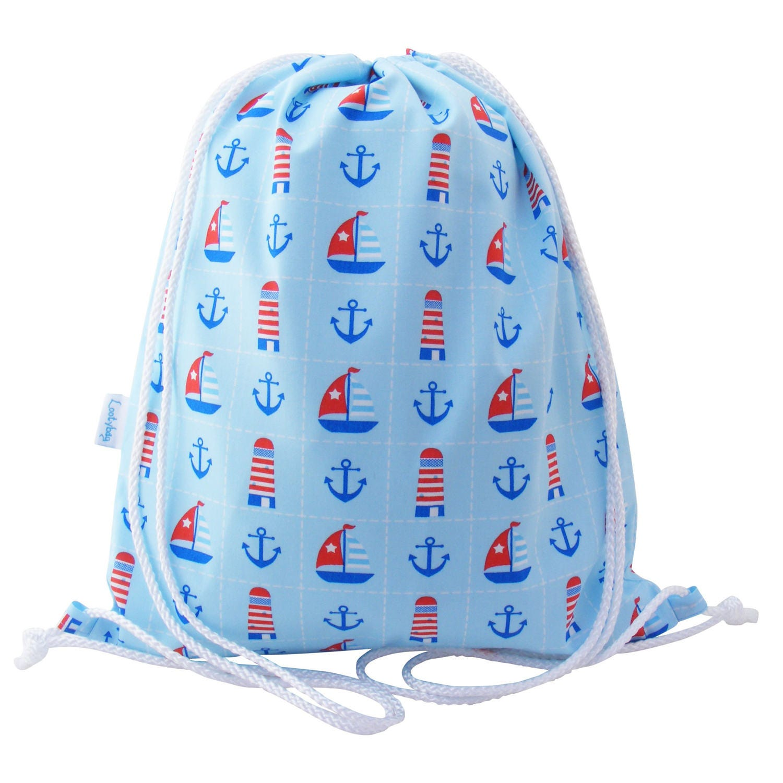 Kids Drawstring Backpack Swim Bag  Nautical