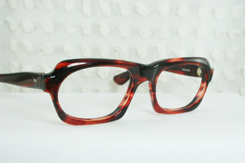 Unusual Designer Eyeglass Frames : 60s Glasses 1960s Unique Eyeglasses Mod Tortoise by DIAeyewear