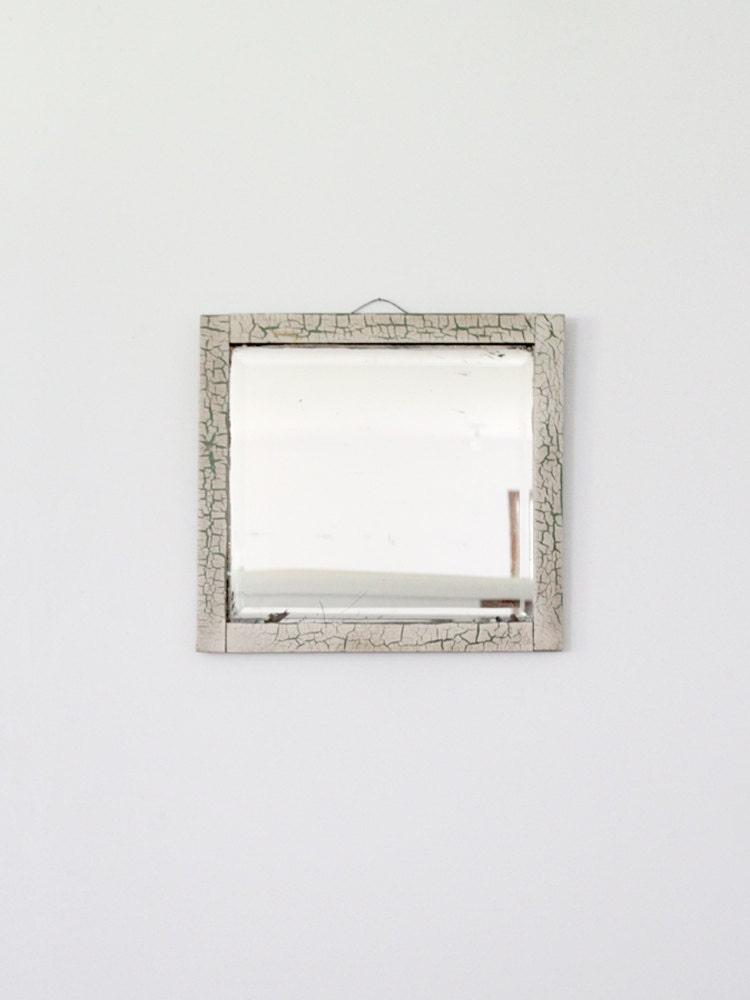 antique beveled mirror / wood frame mirror - 86home