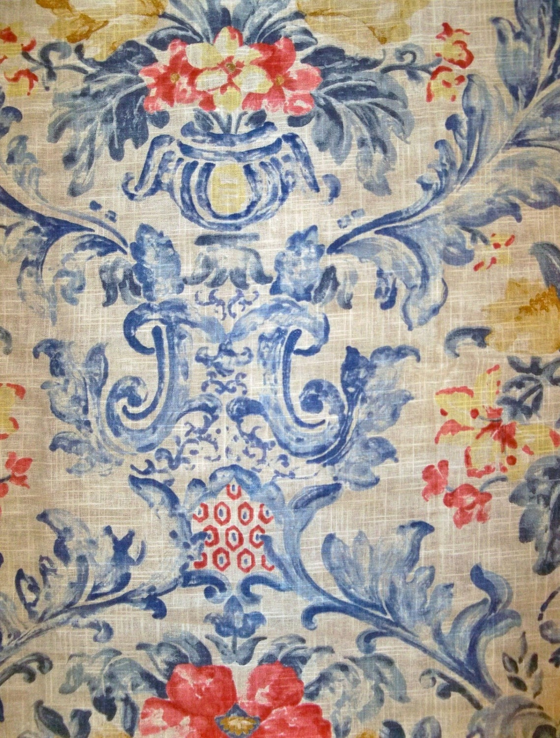Unavailable listing on etsy for French toile fabric