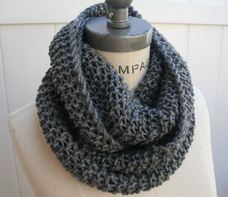 Chain Scarf Grey Knit Infinity Scarf  Most Popular Item Best selling Items - By PIYOYO - PIYOYO
