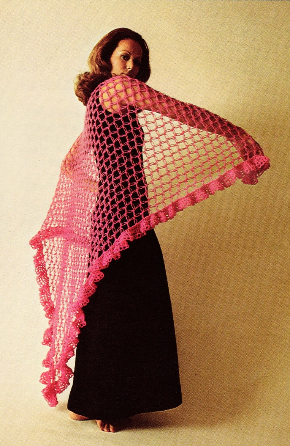 70s Lovers Knot Shawl Crochet PDF Pattern Eco by ...