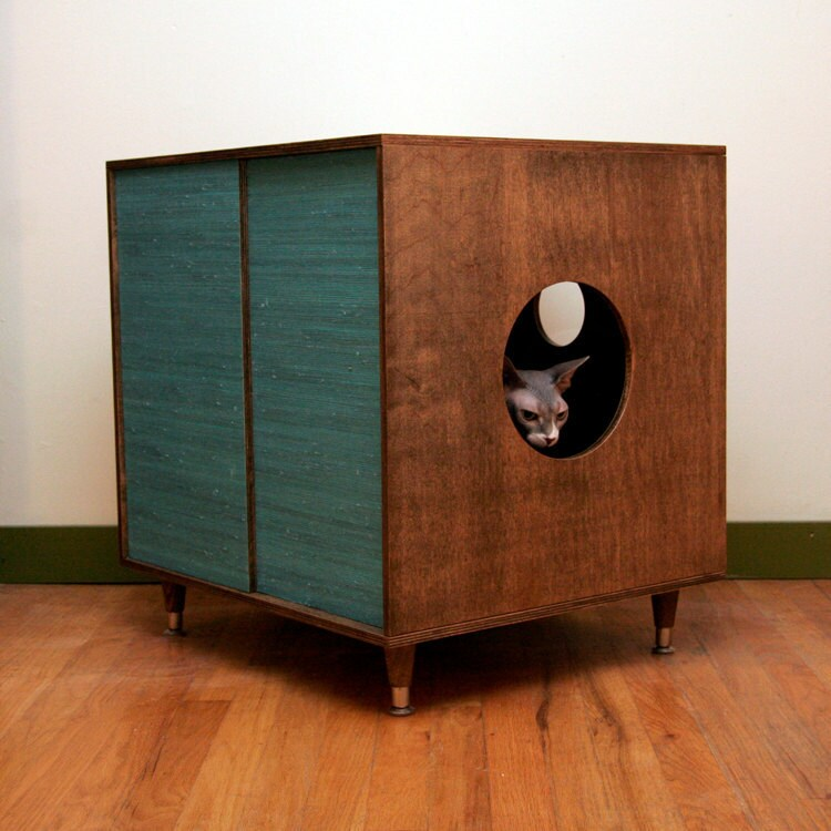 Litter hideaway circa50 the modern cat litter box by modernistcat - Modern kitty litter box ...