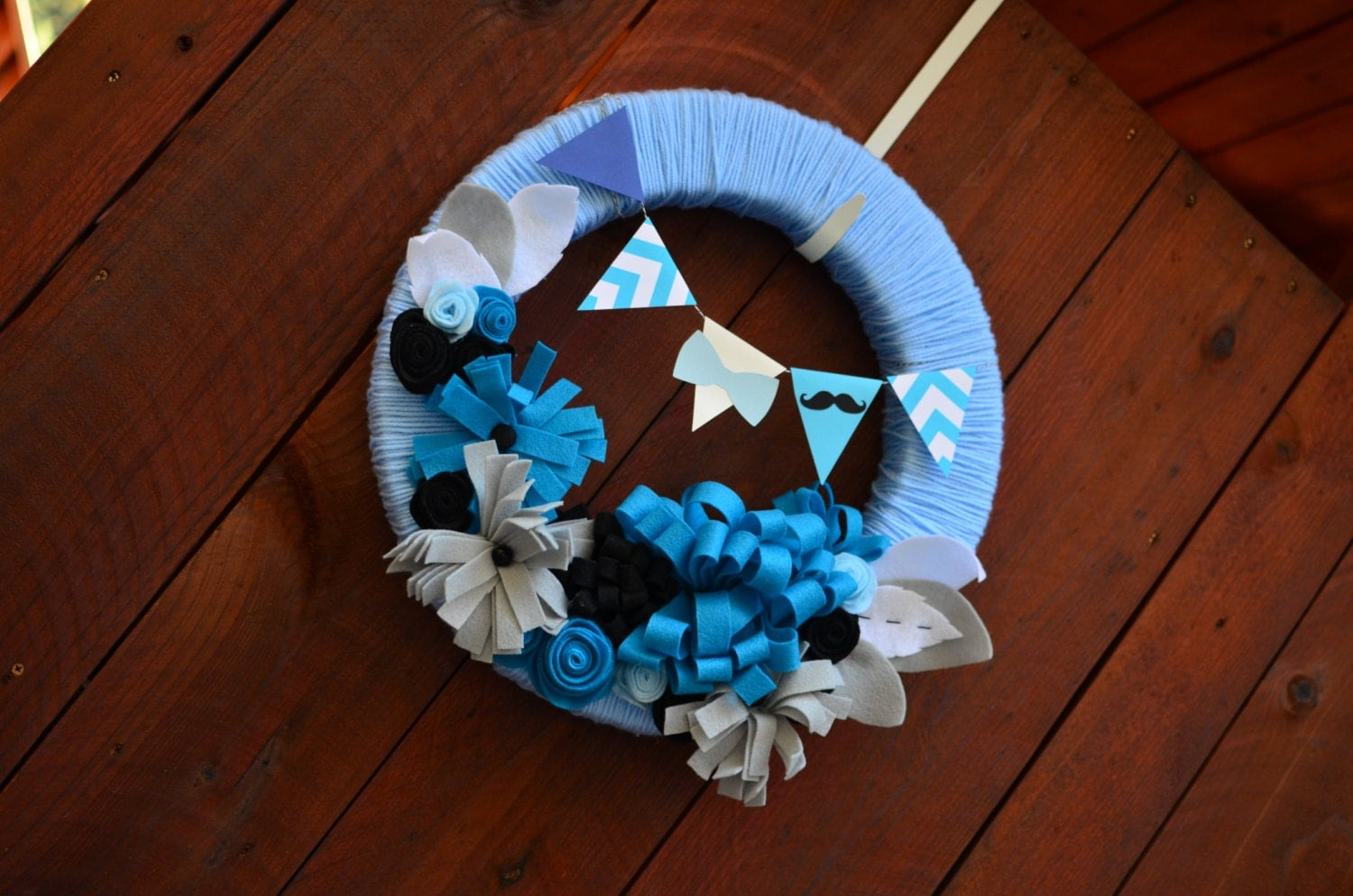 Items similar to mustache wreath baby boy shower for Baby boy hospital door decoration