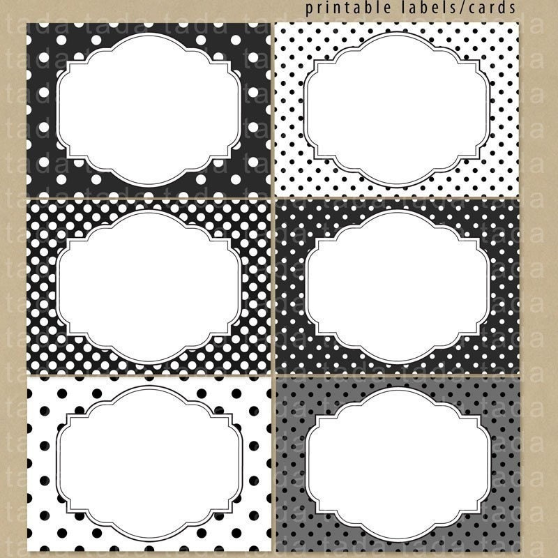 Black and White Printable Labels Free