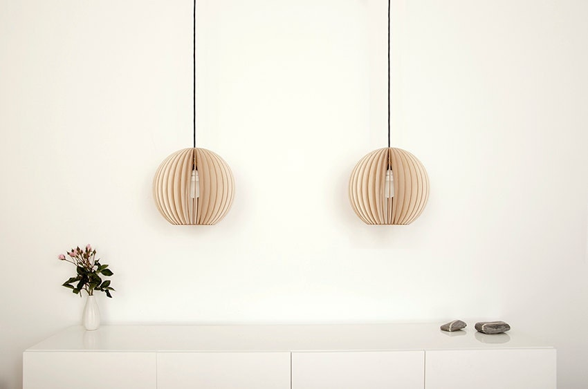Aion Wooden Hanging Lamp