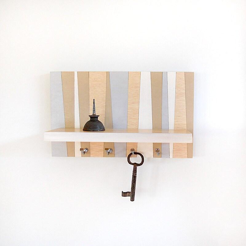 Shore Small Wood Wall Shelf Geometric Modern Key By Pigandfish