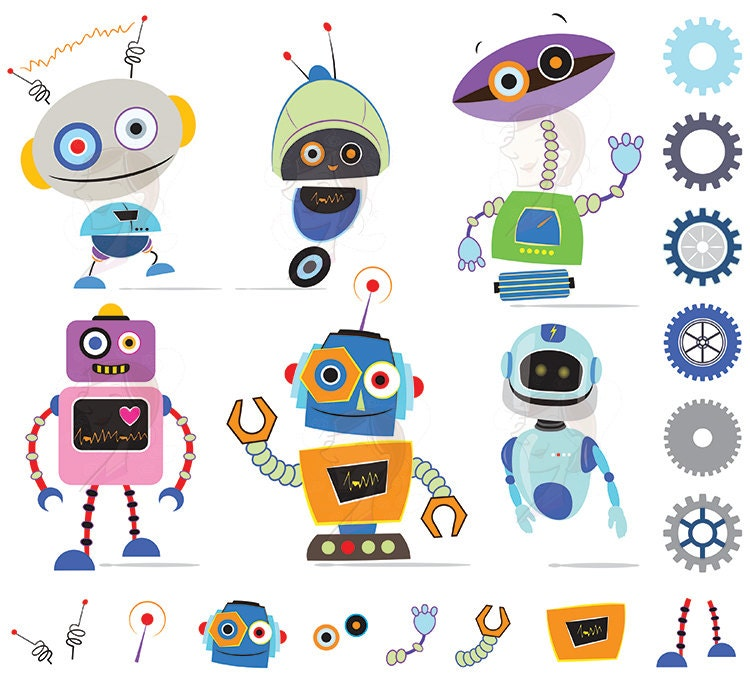 Cute December Clipart Robots Clipart Clip Art Cute