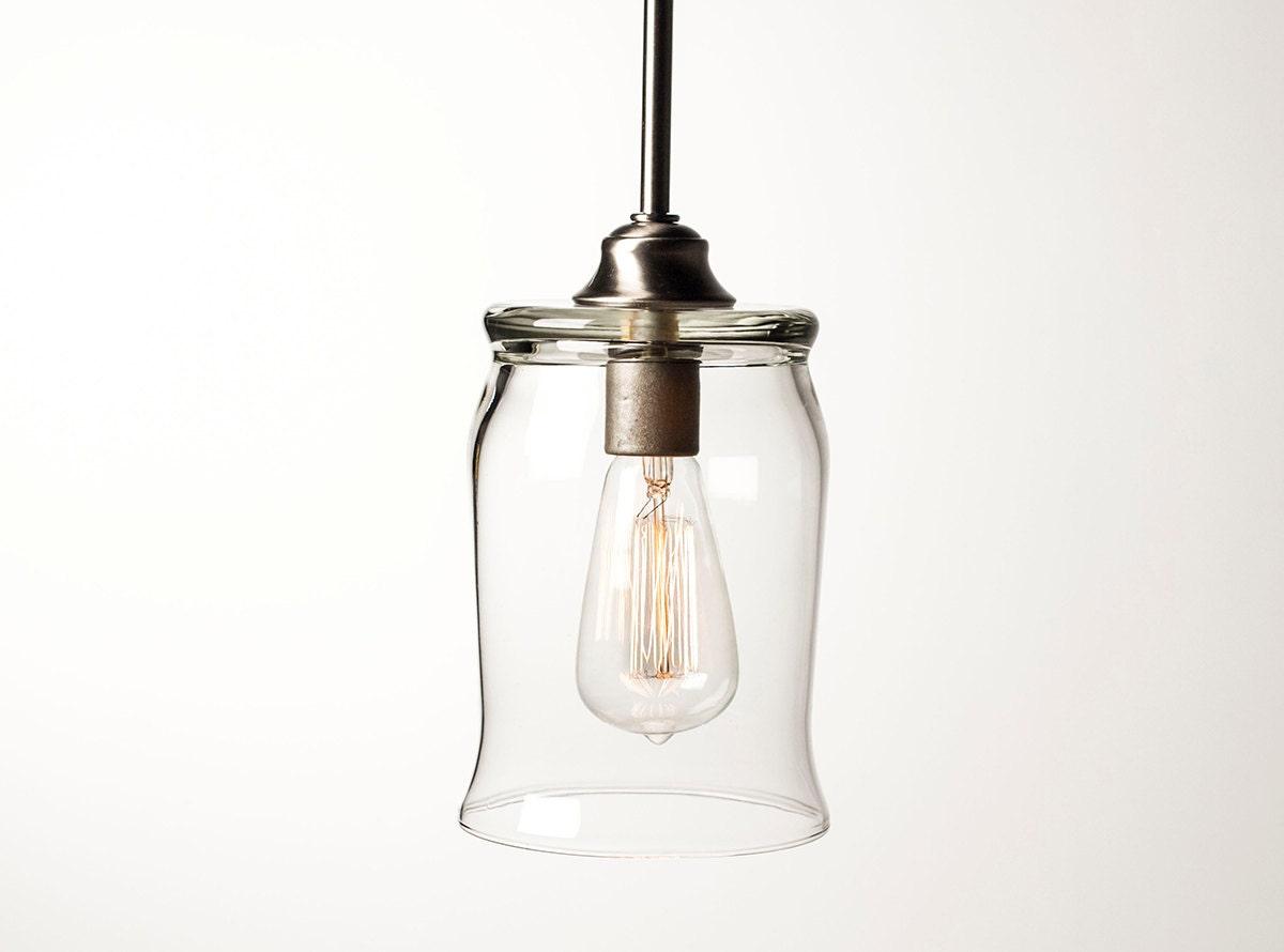 Edison Bulb Pendant Light Fixture - Brushed Nickel Finish - DanCordero