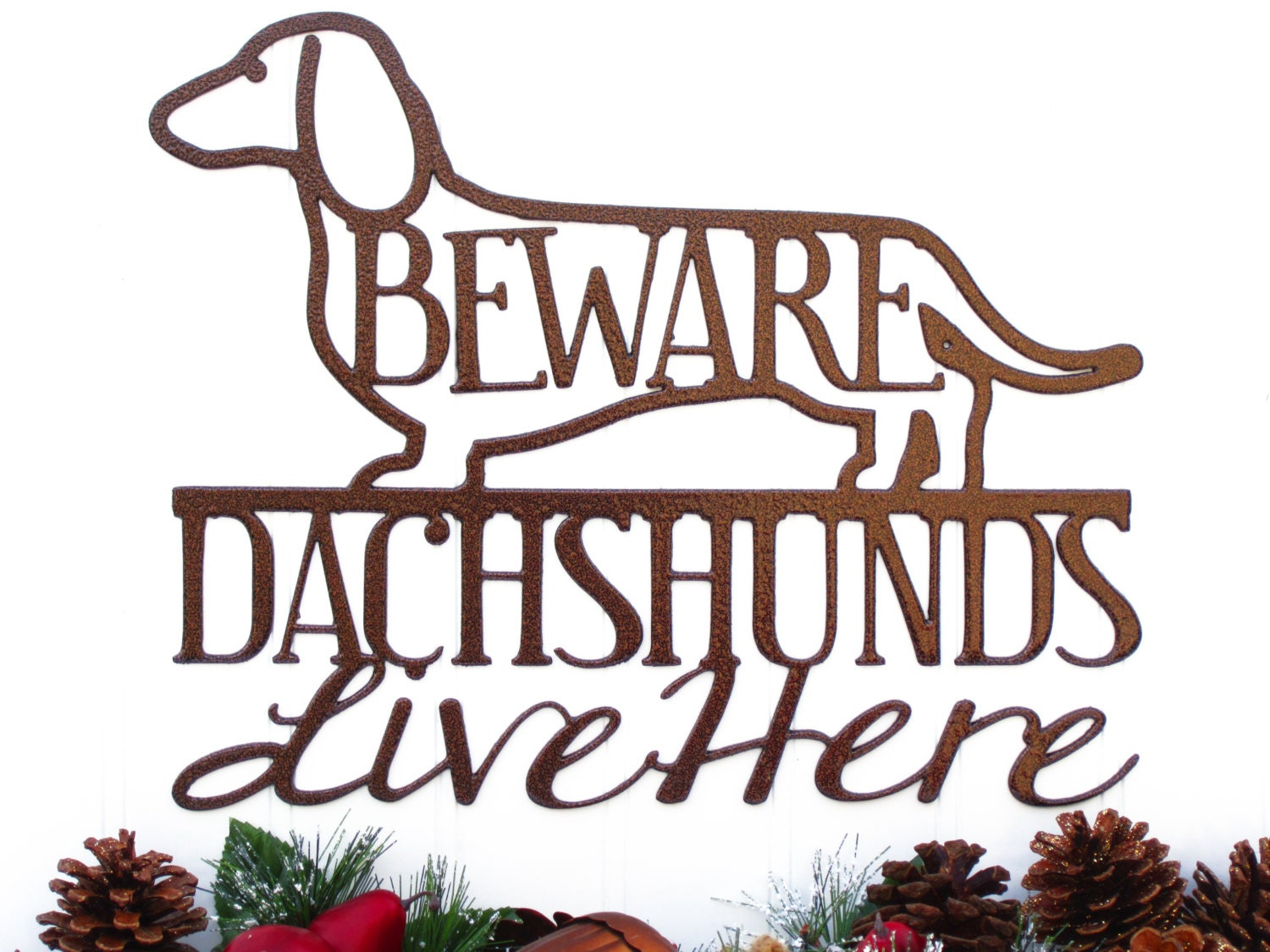 Copper Dachshund Metal Wall Art - Weiner Dogs, Dachshunds, Door Signs, Dachshund Gifts, Toy Dogs, Wall Art, Dog Breeds, Dogs, Signage, Signs - RefinedInspirations