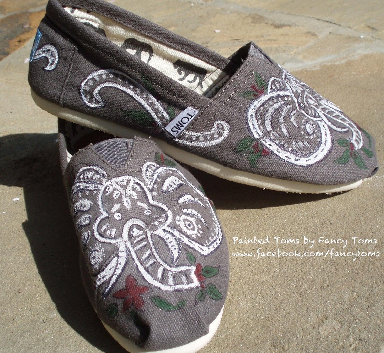 Custom Tom Shoes Elephant