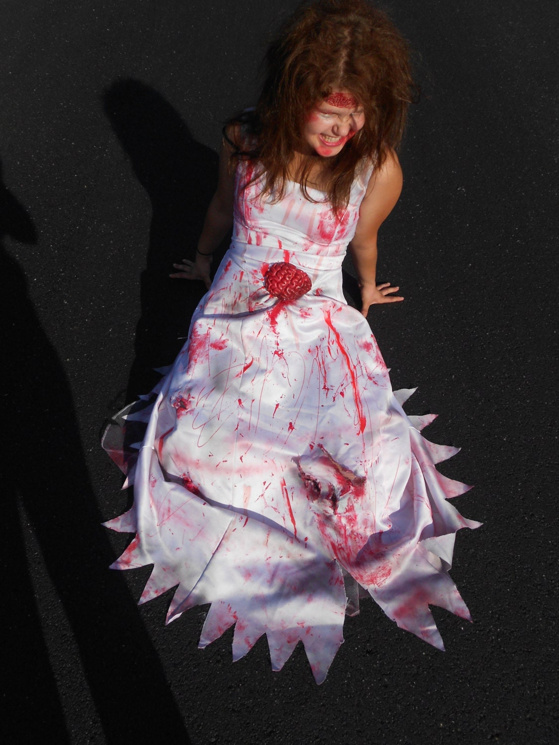 Zombie Wedding Dress For  : Zombie wedding dress with headband adult by loveancare