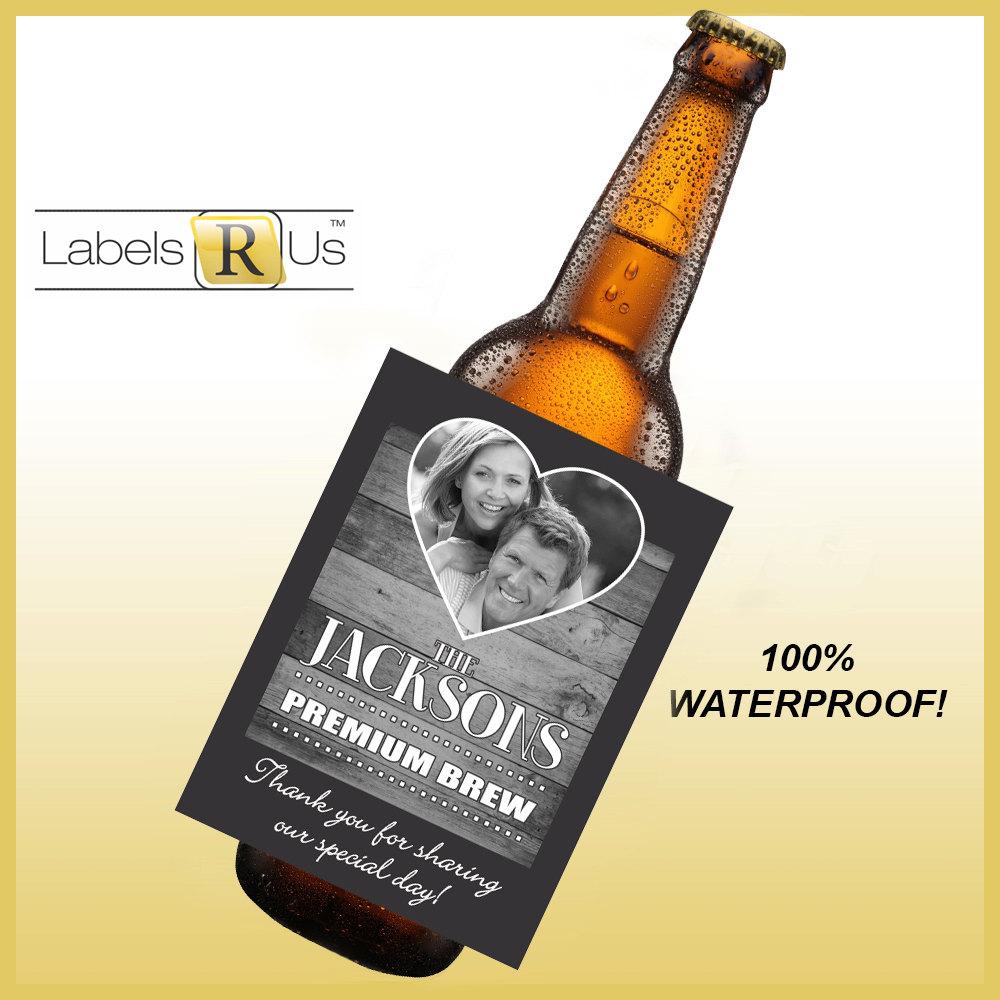 Custom Beer Bottle Labels Personalized Wedding By: Items Similar To 12 Wedding Beer Bottle Labels