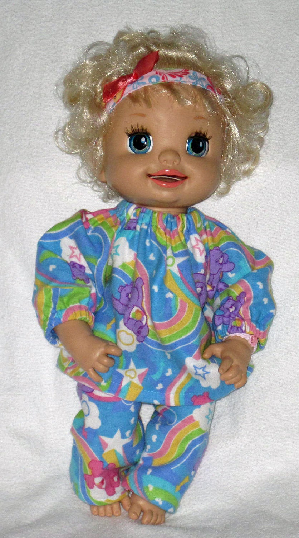 My Baby Alive Set Care Bear Pajamas Fits 16 by Dakocreations