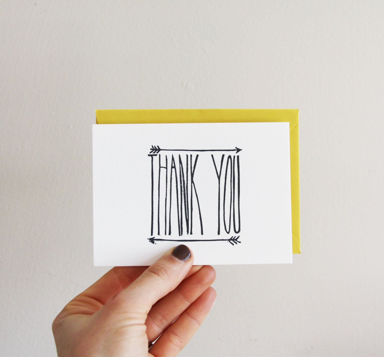 Thank You Arrow card, 3.5x5 - nativebear
