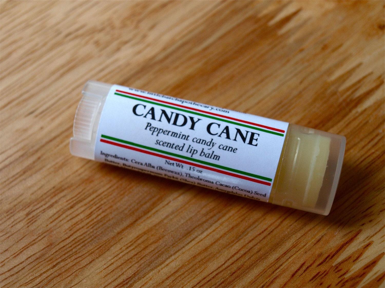 Candy Cane Lip Balm - christmas lip balm, holiday lip balm, peppermint lip balm, sweet lip balm