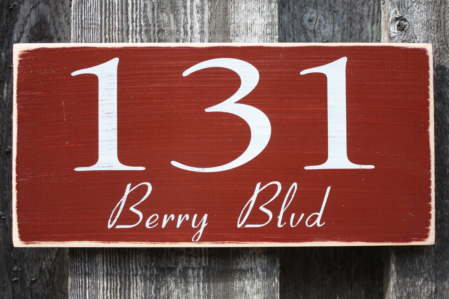 house numbers with street address shabby chic by. Black Bedroom Furniture Sets. Home Design Ideas