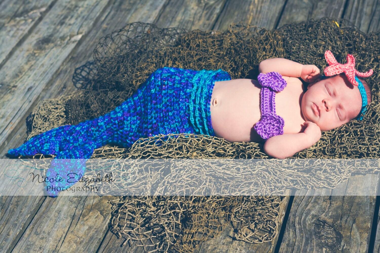 Instant Download PDF Crochet Mermaid Tail Photo Prop by BizeeB