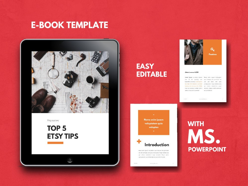 Ebook Template Powerpoint