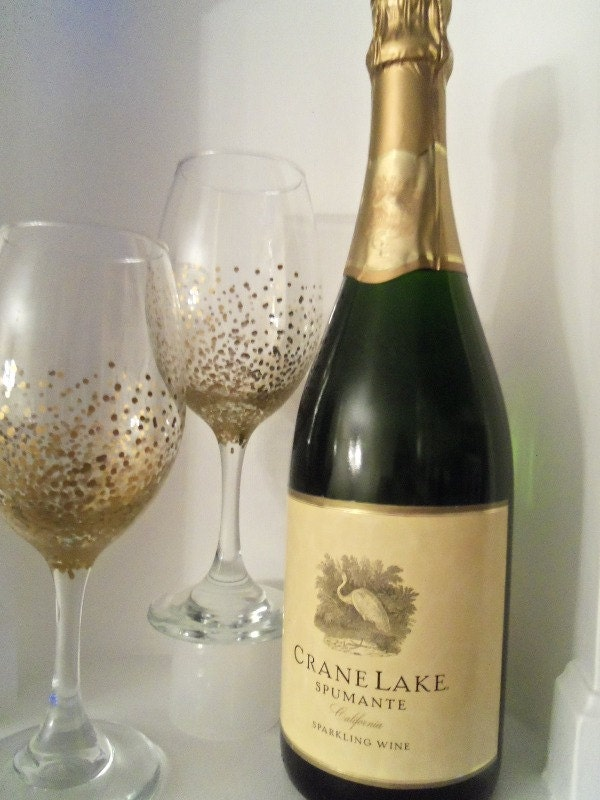 Decorative Wine Glass Wedding Wine Glass Wine By YouniquelyElegant