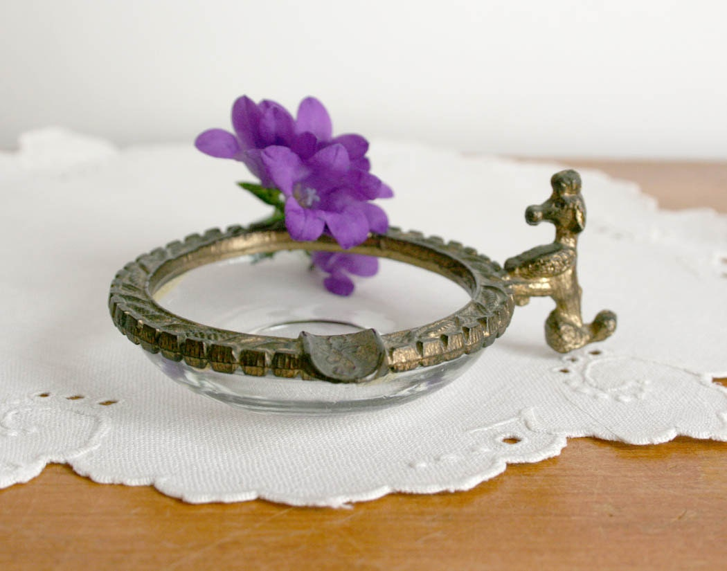 vintage celeste ashtray miniature glass by theheirloomshoppe