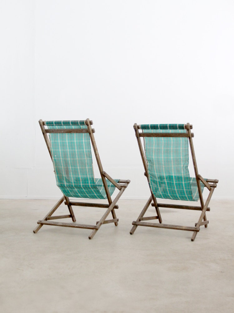 vintage deck chairs / rocking beach chairs - 86home