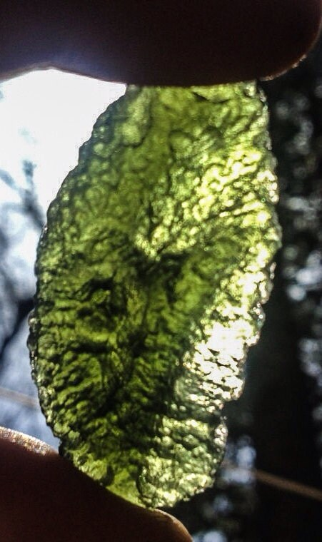 Moldavite Specimen, Green Meteorite, Heavy Crag, Heady Wrap, Wrappable, Tektite, Gift, Wire Wrap Supply, Metaphysical, Jewelry - sustainablygrateful