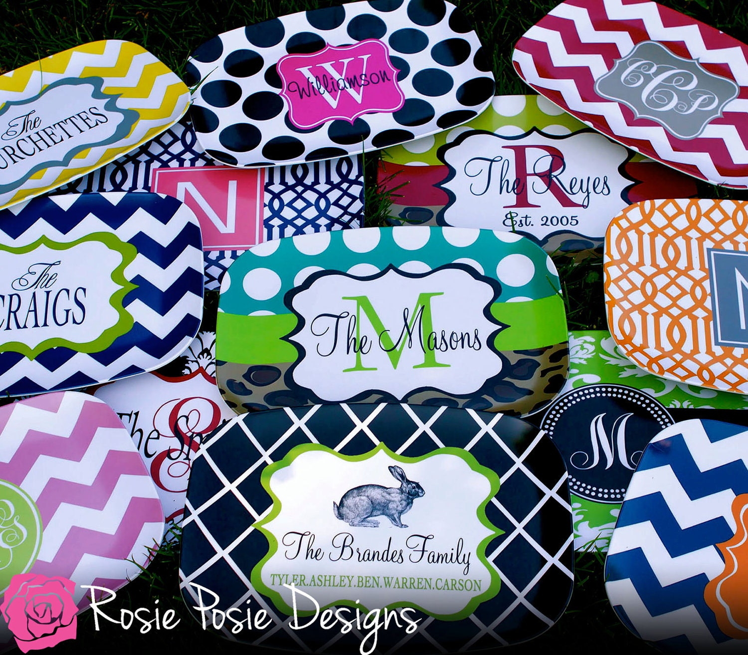 Personalized Melamine Platter-Design Your Own