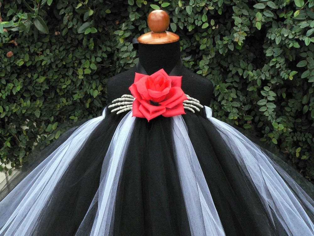 Nightmares custom sewn tutu dress inspired by jack by for Dresses to wear to a christmas wedding