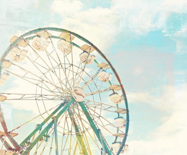 Ferris Wheel Print - Ferris Wheel Photograph - Fine Art Print - Art Print 5x7