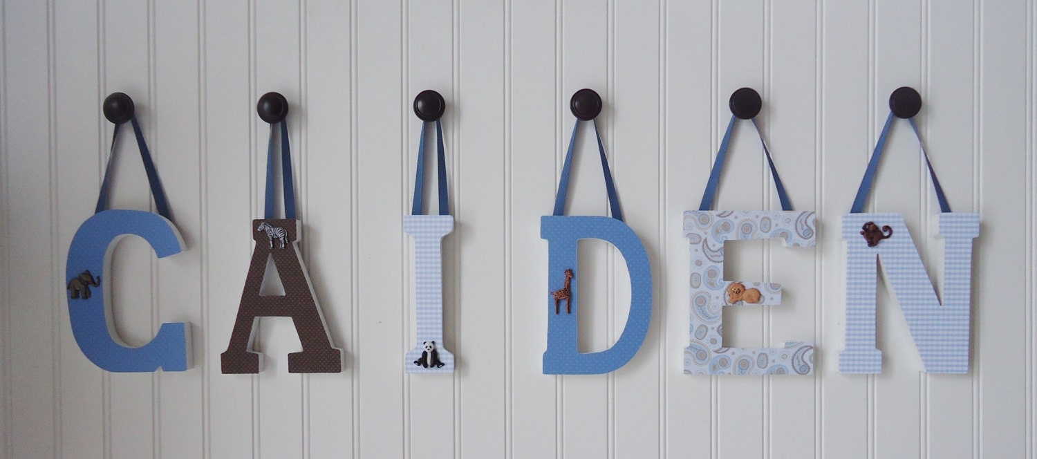 Wall Decor Wooden Letters : Items similar to wall letters nursery decor wooden