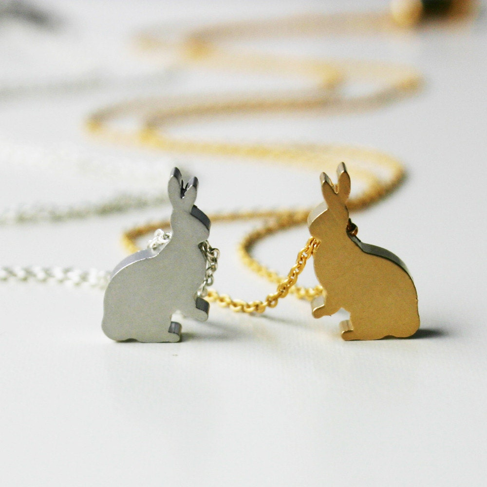 Mini Bunny Necklace - Gold - Pre- Order will be shipped out April 4