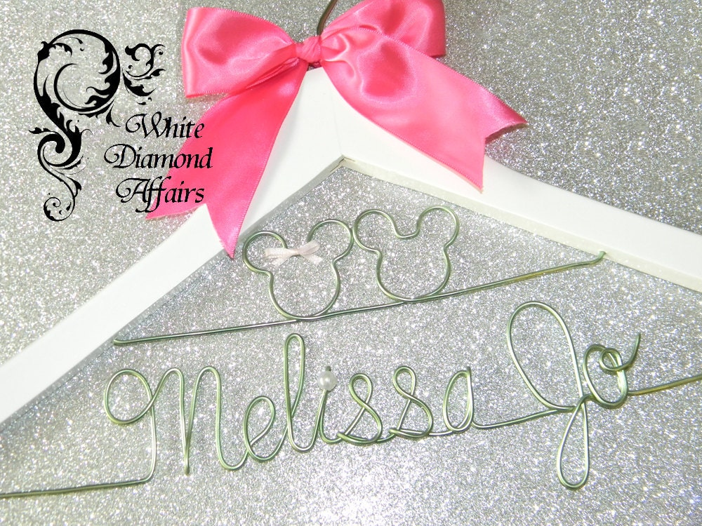 Personalised Wedding Gifts Disney : Disney Wedding Dress Hanger, Personalized Bridal Hanger, Personalized ...