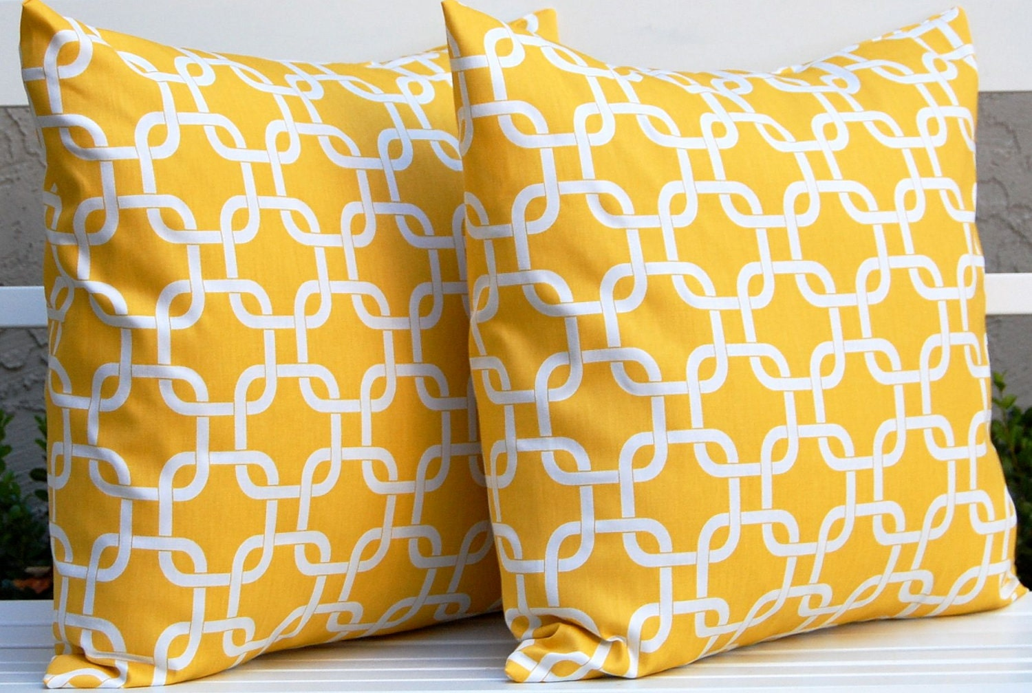 Yellow Throw Pillow Covers Accent Pillows by FestiveHomeDecor