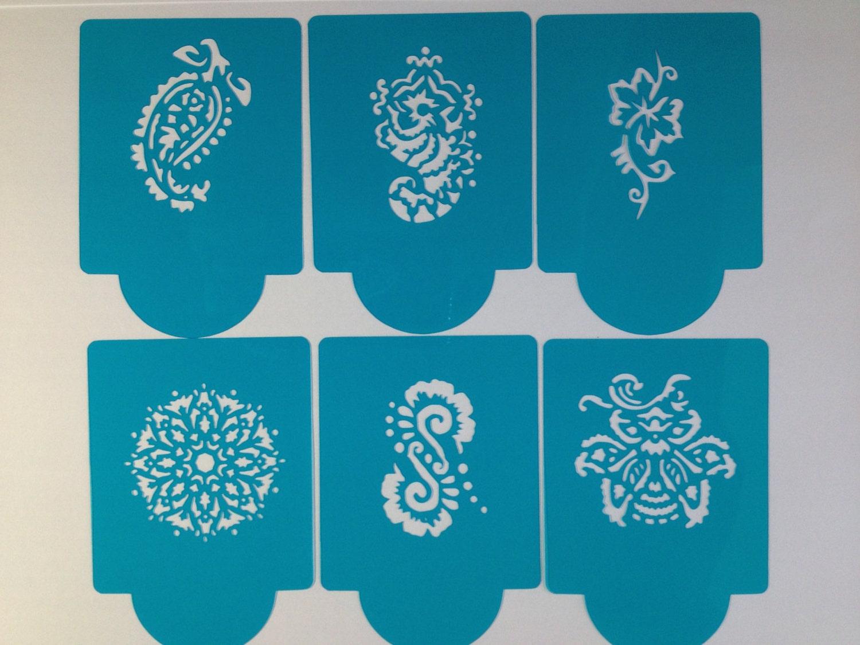 Mehndi Cake Stencil : Mehndi cake stencils ideas and designs