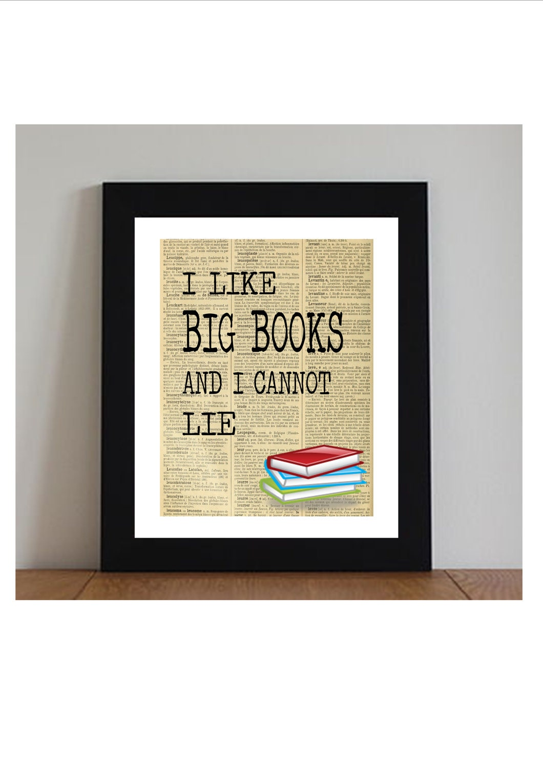 book art print great gift idea on Etsy