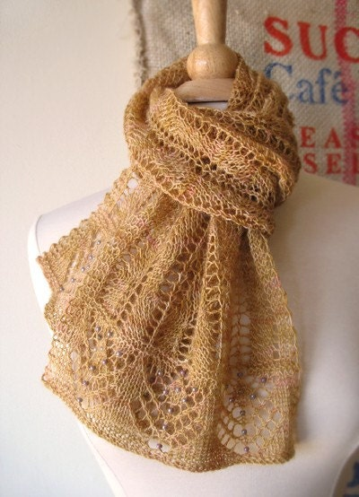 Restless Lace Scarf Knitting Pattern by bluepeninsula on Etsy