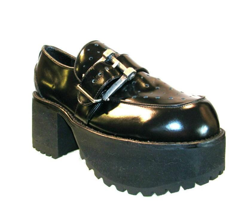 mens platform shoes vintage mega glam club club by