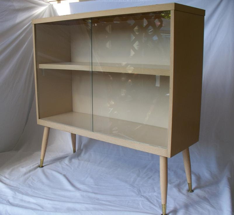 Mid Century Modern Blonde Formica Bookcase By The2ndtimearound