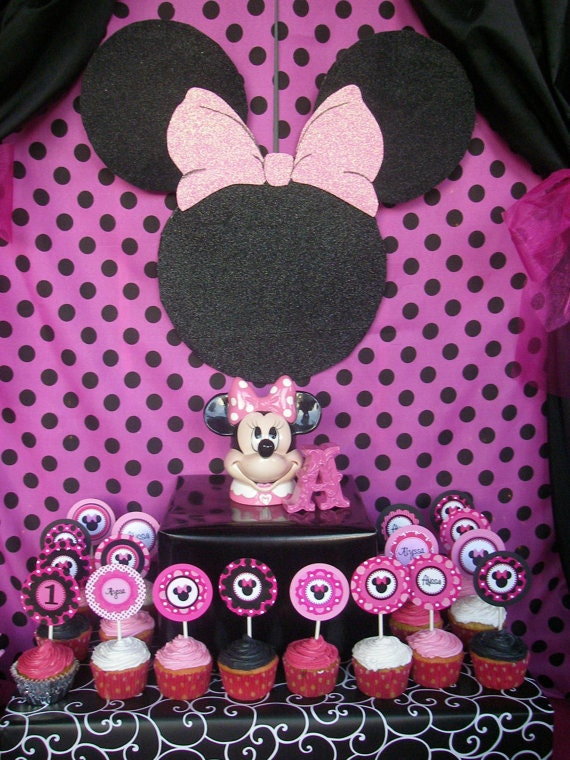 Items similar to minnie mouse minnie mouse wall plaque for Baby minnie mouse party decoration