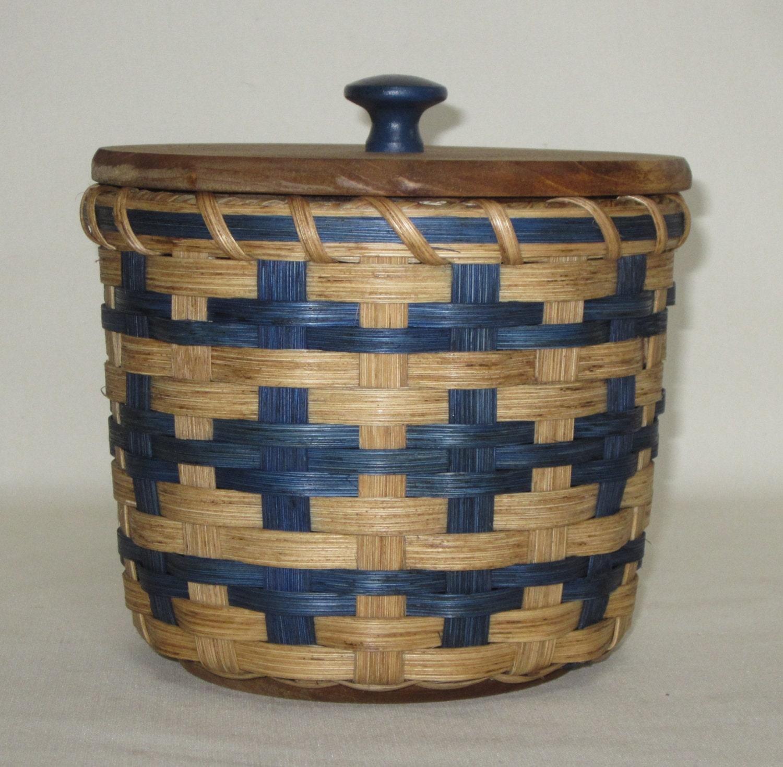 Lidded Toilet Paper Basket Single Roll Storage By Jgbaskets